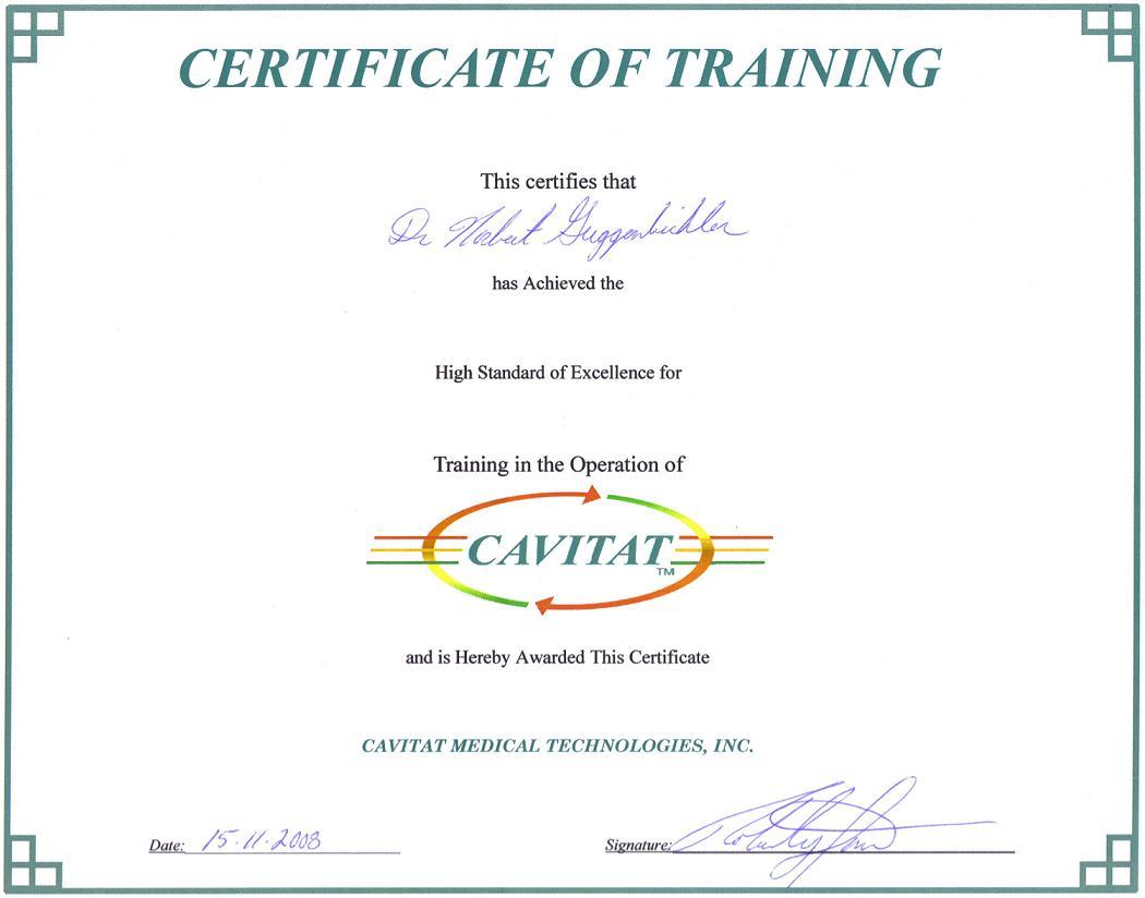 Cavitat-Zertifikat