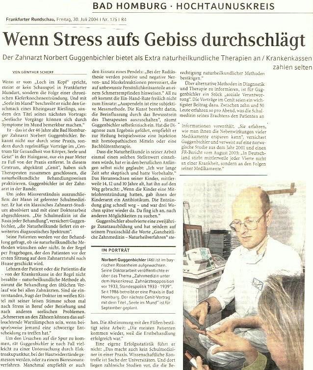 Frankfurter Rundschau über Guggenbichler 2004